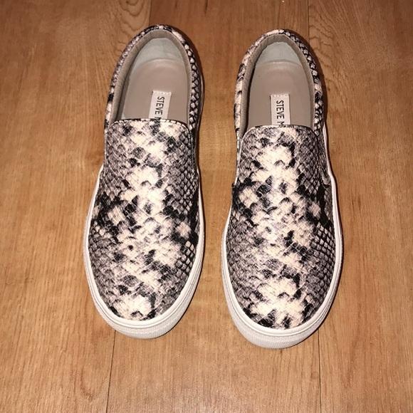 fae57051aafc Steve Madden Shoes | Gills Snakeskin Slipons | Poshmark